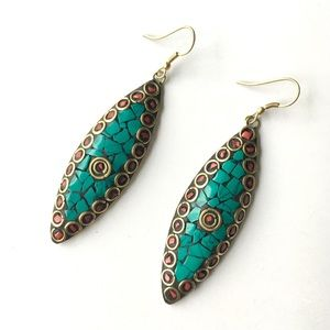 Turquoise Handmade Gemstone Earrings